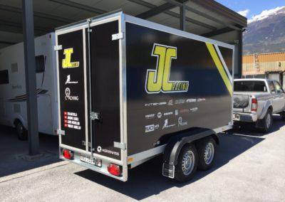 Remorque avec sérigraphie JC Racing