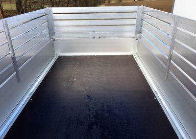 Remorque plateau avec rehausses aluminium